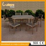 Conjunto de aluminio del vector de la silla de Polywood de los muebles del jardín del metal del restaurante al aire libre del café