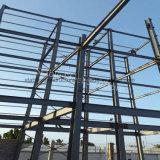 耐久の構造が付いている2階建ての産業鉄骨フレームの建物