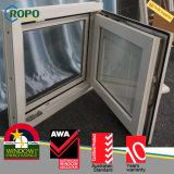 Awa 일원 오스트레일리아 이중 유리를 끼우는 UPVC 경사 회전 Windows 문