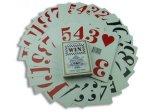 Cartes de jeu de tisonnier de papier de casino de code barres