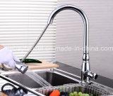 Retirer le mélangeur sanitaire monté par paquet de bassin de cuisine d'articles de chrome en laiton d'émerillon
