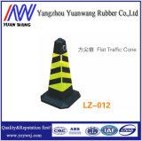 Qualitäts-schwarzer reflektierender flacher Verkehrs-Gummikegel
