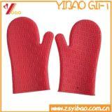 100% gants anti-caloriques de BBQ de silicones de catégorie comestible, mitaines de four de silicones