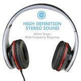 Neue Highfidelity-Geräusche, die Kopfhörer-Stereokopfhörer mit Mikrofon beenden