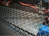 黒によって電流を通されるチェーン・リンクの塀