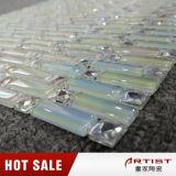 Mosaïque colorée de forme de bande d'arc-en-ciel petite et tuile en verre 15X15 de miroir de mosaïque de diamant