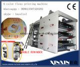 空気張力制御6カラーフレキソ印刷の印字機