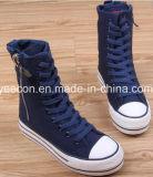 Классицистические ботинки женщин/ботинок повелительницы холстины вскользь