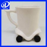 цвет горячей милой кружки кофейной чашки кружки шины автомобиля шаржа 3D керамической творческий