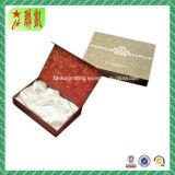 Custome a estampé la boîte-cadeau de papier rigide avec le couvercle de feuille