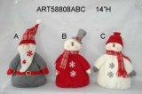 Muñeca Santa de la decoración de la Navidad, muñeco de nieve, muñeca y ratón, 4 Asst