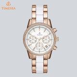Damen Rose und weiße Chronograph-Uhr-Frauen Sports Uhren 71016