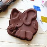 Прессформа слона силикона цвета шоколада малая для помадки печенья