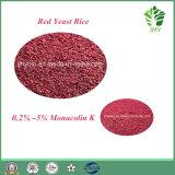 100% natürlicher roter Hefe-Reis-Auszug Monacolin 5%, untereres Blut-Cholesterin