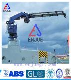 Grue hydraulique de bateau avec le boum rétracté diplômée par OIN d'ABS CCS BV