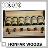 6 Flaschen-natürlicher hölzerner Wein-Kasten-verpackenkasten