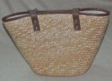 普及したわらの女性のハンドバッグ、ショッピング・バッグ