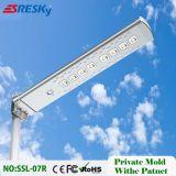 A melhor luz de rua solar do diodo emissor de luz 30W do preço 12V com o certificado ISO9001