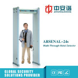 Grille militaire de détecteur de métal non précieux 18 de zones de porte sûre