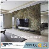 Le mur de marbre de qualité de modèle neuf couvre de tuiles la décoration de mur de salle de séjour