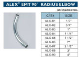 EMT 90 Radius Elbow Steel