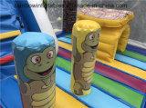 子供のためのスライドを持つタートルの主題のTrampolinの膨脹可能な警備員