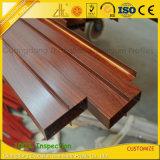 Perfil de extrusão de alumínio em grão de madeira para decoração de mobiliário