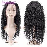 Парики фронта шнурка человеческих волос девственницы Yvonne большие курчавые для цвета чернокожих женщин естественного освобождают перевозку груза