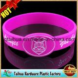 Wristband relativo à promoção do silicone do logotipo da cópia