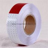 Горячий продавая тип ленты красной и белой тележки безопасности гребня меда DOT-C2 кристаллический решетки PVC отражательные