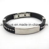 Individuelle Werbe-Silikon-Armband, justierbare Silikon-Armband, Förderung-Handgelenk-Band