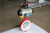 PTFE 시트 (D671X-10/16)를 가진 압축 공기를 넣은 웨이퍼 나비 벨브