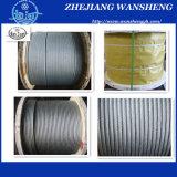 Corde galvanisée de fil d'acier avec le certificat ISO9001-2008 (6*19S+FC)