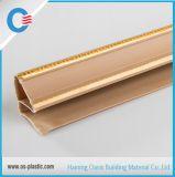PVC que molda com canto de prata do PVC com linhas douradas