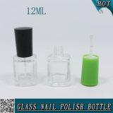 bottiglia di vetro libera quadrata del polacco di chiodo 12ml con il coperchio a vite