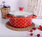 Kitchenware do dispositivo de cozinha do esmalte que cozinha o navio de /Enamel do potenciômetro