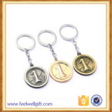 Logotipo para colorir Debossed Double Metal Trolley Coin Key Chain