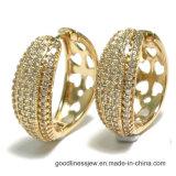Heißer Verkauf und 2017 neue heiße Form-GoldLated Troddel-Ohrring-Bewegungs-Art-Messingohrringe für Frauen (E6827)