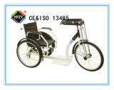Triciclo plegable manual negro D-92 para las personas mayores