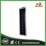 40W integró todos en un programa piloto solar de las luces de la luz de calle LED 2 años de la garantía LED de luz de calle