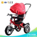 3 дети нажима руки колеса/трицикл младенца/прогулочной коляски младенца (6688A)