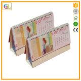 Calendario de pared obligatorio de la impresión del Alambre-o