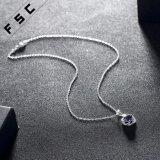 Form 18 Zoll Zircon-Silber überzogene Halsketten-für Mädchen