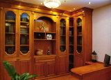 Bibliothèque en verre de bureau de porte avec le bureau (GSP9-025)