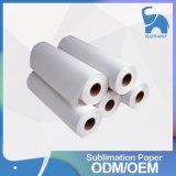La fábrica Directsale rápido seca el papel de la sublimación del rodillo para la tela