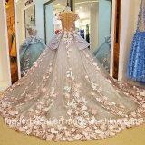 Мантии Arabics цветков Bridal цветут роскошное изготовленный на заказ платье венчания Y0101