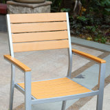 Patio-Garten-im Freien Hotel-Büro-AusgangsPolywood Tisch-und Arm-Stuhl (J817)
