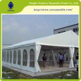 крышки PVC брезента шатра 750GSM белые водоустойчивые для порта