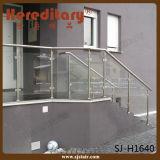실내 방책 (SJ-S1307)를 위한 미러 공단 스테인리스 유리제 난간