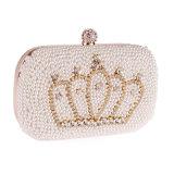 De Kroon van de Parel van het Bergkristal van het Kristal van de Ontwerper van de Beurs van de Zak van de Avond van de manier Gepareld Dame Handbag